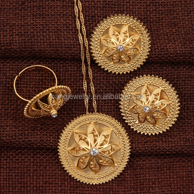 big gold plated indian jewelry <strong>set</strong>