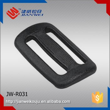 High quality 25mm plastic seat belt tri-glide adjustable buckle JW-R031