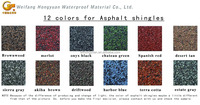 colorful asphalt shingle/roof construction material/building material
