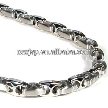 "Jewelry Set Men's Stainless Steel Mariner Chain Anchor Link Jewelry Necklace & Bracelet in 24"" & 8.5"""