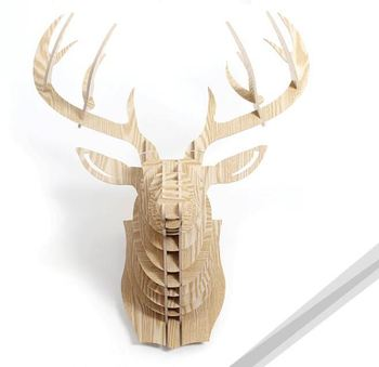 DIY deer head christmas animal trophies wall hanging decorations