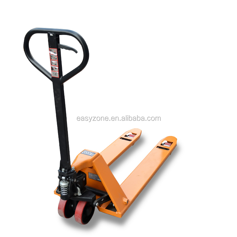 cheap price 2t manual hydraulic trolley pallet jack stacker with YCWM1707-1317