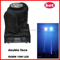 ( WLEDM-13-1) new double face 10w rgbw leds beam moving head club & bar decoration wall