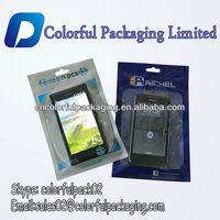 Custom printed cellphone case plastic packaging bag with ziplock and hole