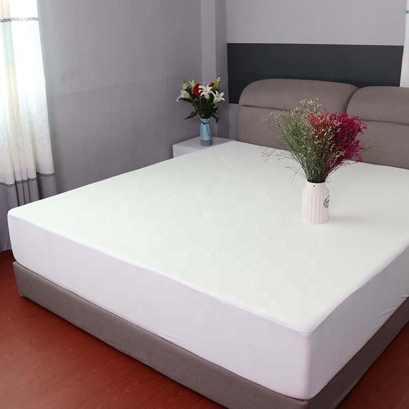 White waterproof tpu bamboo knitting mattress protector cover - Jozy Mattress | Jozy.net