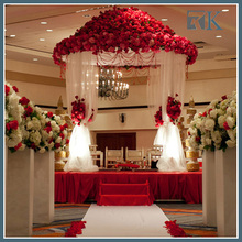 Decorative wedding columns with pipe and drape