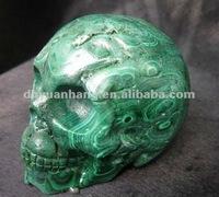 Charming malachite Quartz CRYSTAL Rock skull,malachite stones for sale,malachite carvings