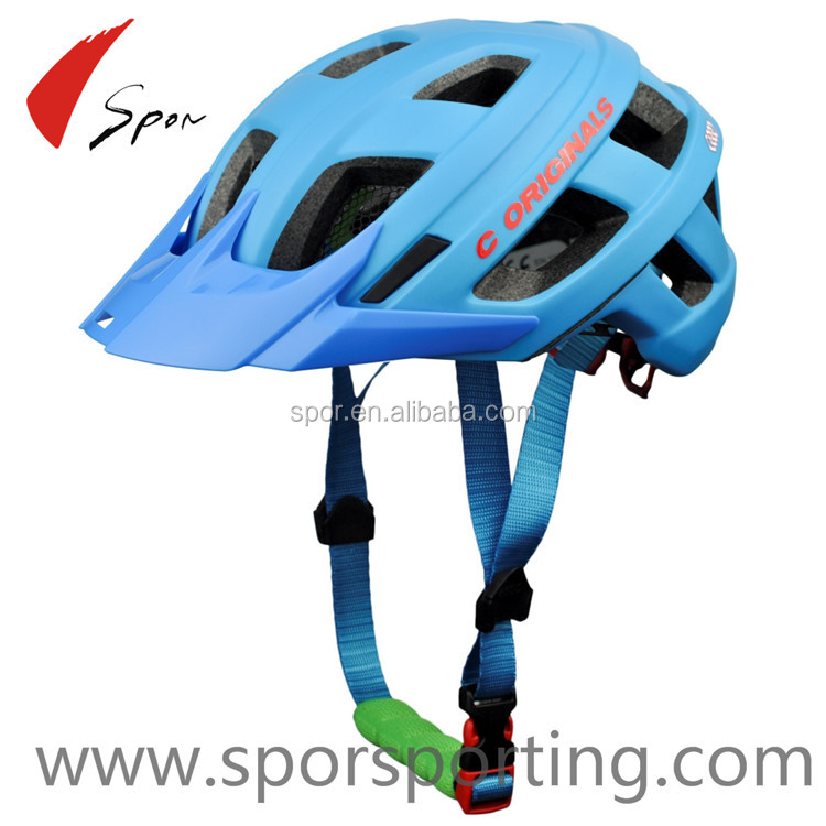 New Adult Street Bike Bicycle Cycling Safety Carbon Helmet With Visor Blue