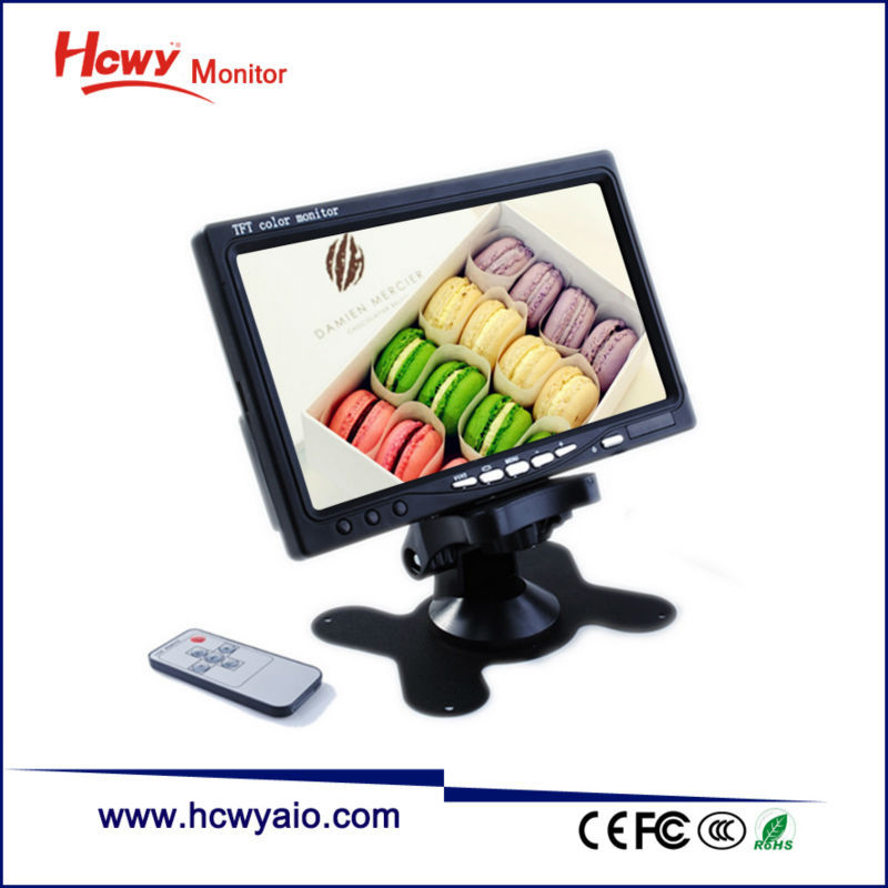 7inch LCD Car Monitor With HDMI Input DC12V
