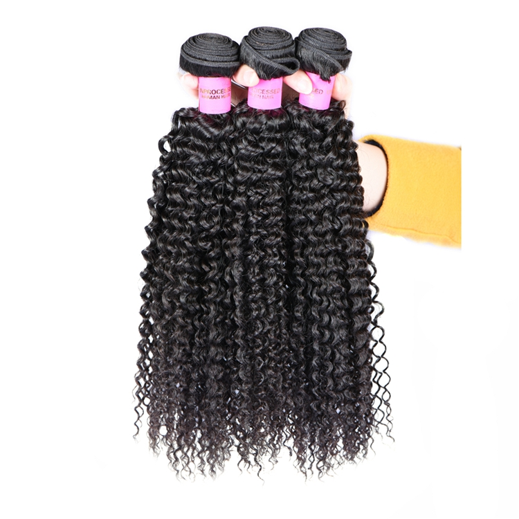 New Arrival 3 Bundles Black Rose Virgin Brazilian Remy Hair Kinky Curly Virgin Brazilian Human Hair Weave Extension
