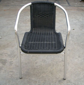 stackable rattan garden chair wicker chair aluminum PE rattan garden chairs YC028,