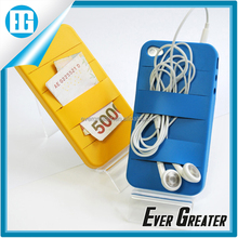 fashion design mobile phone cover,pure color hang your headphones rubber mobile phone cover