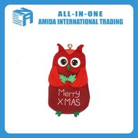 High quality household selling Christmas owl exquisite wall hanging ornaments