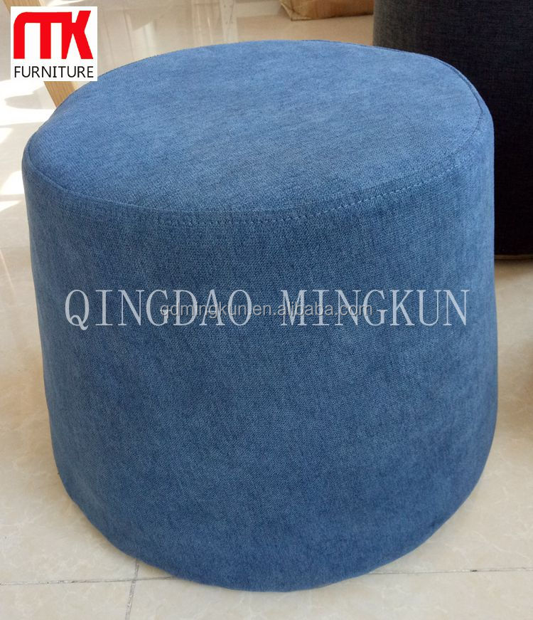 Cheaper fabric pouffe
