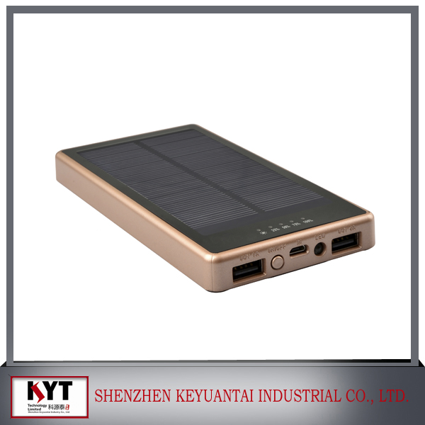 Factory Price 7000mAh Solar Charger Power Bank with CE, ROHS, FCC