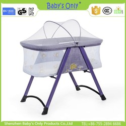 New baby cradle designs OEM children swing with free mosquito net