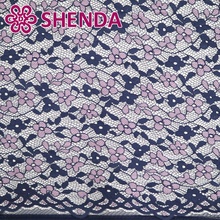 Latest lovely design 2 color cord lace fabric for long wedding dresses with little pink flower pattern