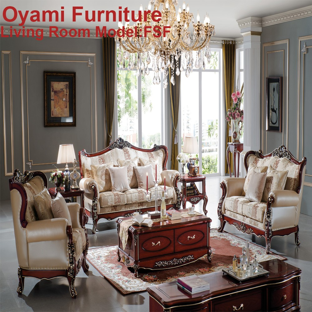 Newest Antique luxury Latest design classical pictures of sofa set