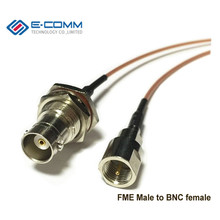 Customized RF connector SMA SMB MCX MMCX to BNC TNC FME UHF PL259 SO239 N F CRC9 TS9 MS156 Pigtail Cable