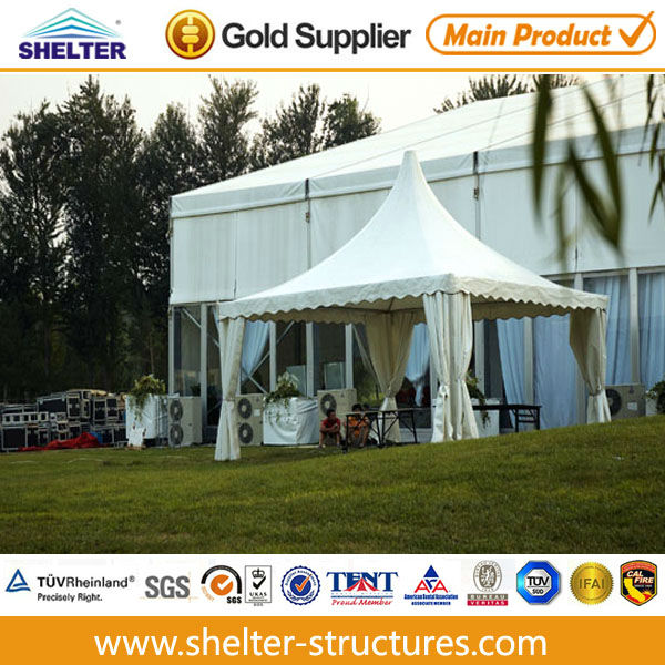 Elegant indoor gazebo used for event