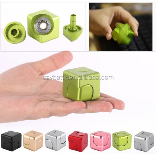 Metal Square Finger Gyro EDC Decompression Toys New Magic Cube Hand Spinner cube