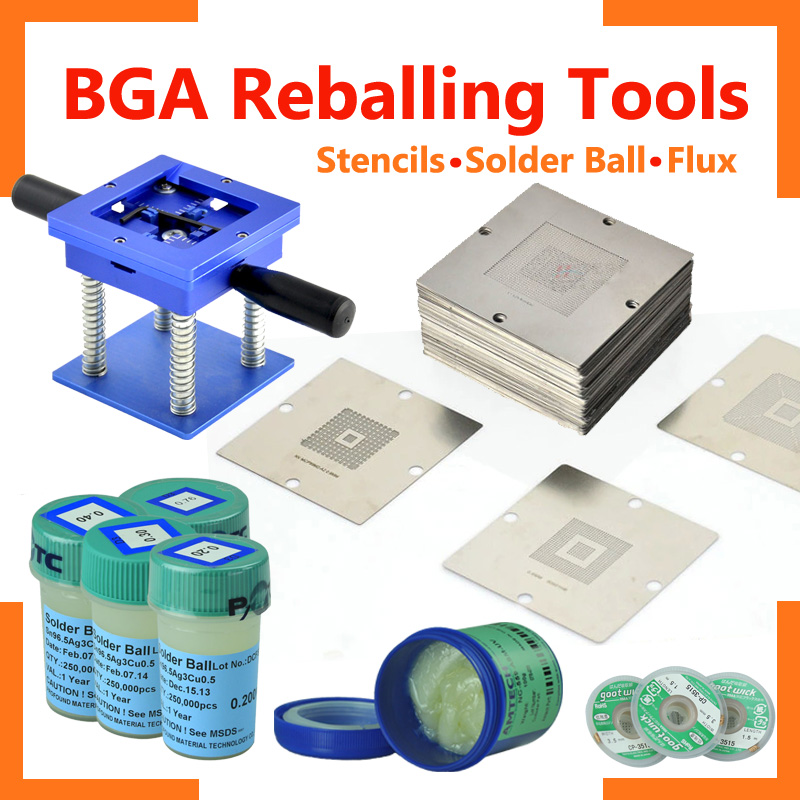 Online Order ! 90*90mm Reballing Kit universal BGA Reballing Tool BGA Chipset Repairing Tool for laptop playstation