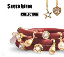 Sunshine Jewelry New Design Endless Bracelet With Gold Charms