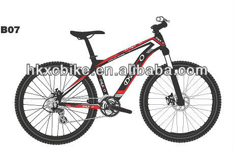 Lower price 2013 Red and white 30speed X9 groupset inner cable 26'' carbon mtb DRACO manufacturer