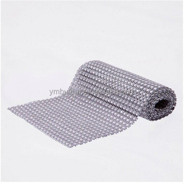 Plastic trimmig mesh without stones made in china