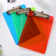 Fashion Simple PVC colorful A4 PP clipboard for office