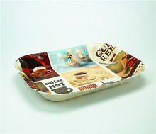 Eco Friendly cheap fast food plastic serving tray