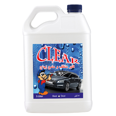 Clear liquid car glass cleaner detergent