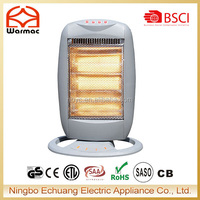 220V 1200W Electric Portable Halogen Glass Heater With Certificate
