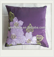hot sales taffeta with embroidery and applique cushion cover