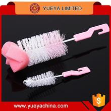 360 degree feeder cleaning brush revolving sponge feeding bottle nursing bottle cleaning brush set 2 in 1