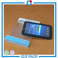 Transparent plastic folding PP/ PVC/ PET packaging box for cell phone case