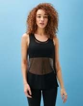 Active wear bulk sale whole mesh transparent woman yoga tank top
