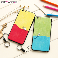 citycase Oil Painting China Wholesale Soft TPU Mobile Phone Case for iPhone 6