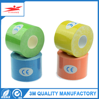 China free samples single side printed green cloth sports tape