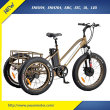 Wholesale 350W Bafang Electric Tricycle Cargo With 120kgs Loading Capacity