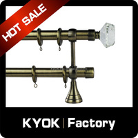 KYOK Home decor double curtain tube accessories,curtain pole wholesale, metal arts and craft finial