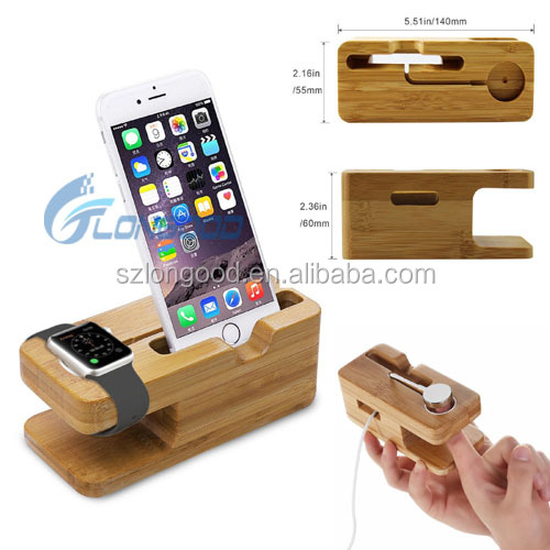 2 in 1 Universal USB mobile phone charging holder Station Desktop Sync Dock Charger For iphone and smart watch