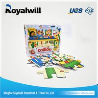 hot sale 12piece 3d paper model toy cardboard puzzle paper DIY puzzle card