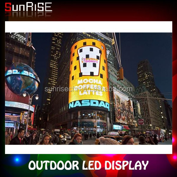 Wholesale high quality marketplace outdoor waterproof full color led advertising display Curved screen
