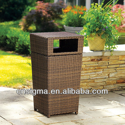 2018 Trade Assurance Wicker Weave Waste Can Woven outdoor waste bins