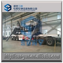 30ft container 3 axle side crane lifted loading container semi trailer