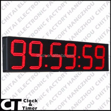 outdoor 6 inch 6 digits race clock GYM led digital timing stopwatch