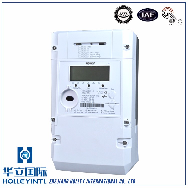 Reactive and apparent energy in at least 4 tariffs Three Phase Energy Meter