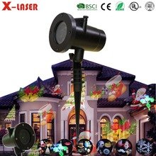 12 Slides LED Christmas Light Outdoor Tree Decoration Garden Text Effect Mini Rotating Stage Party Laser Projector Lamp