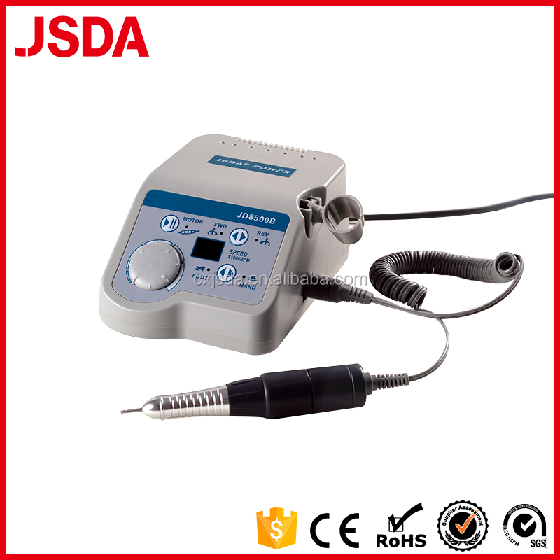 Hot sale JSDA JD8500B 30V 65W 35000Rpm electric dental drill type nail drill with LED speed display window